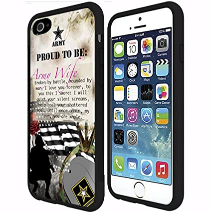 Turbo Delivery LLC - Proud to Be Army Wife-Rubber Case for Apple iPhone 7