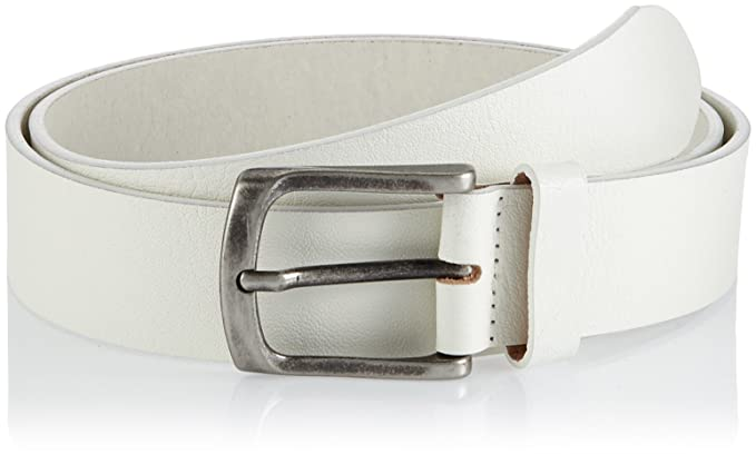 half off 765c3 57905 JACK & JONES Herren Gürtel JACCBRAD Leather Belt NOOS, Weiß ...