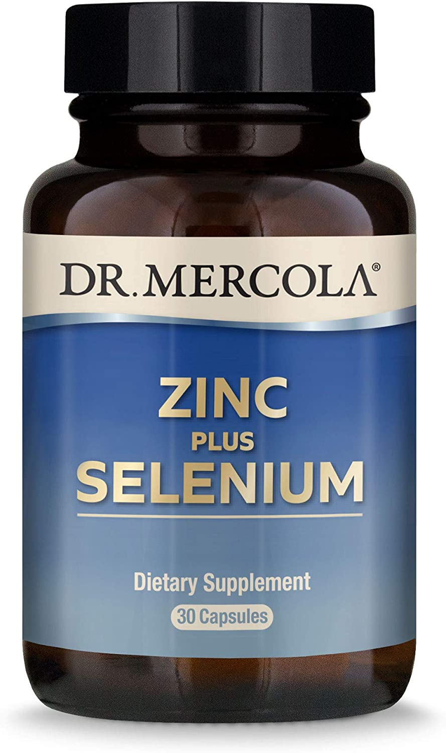 Dr. Mercola Zinc Plus Selenium Dietary Supplement, 30 Servings (30 Capsules), Supports Immune Health, Non GMO, Soy Free, Gluten Free: Health & Personal Care