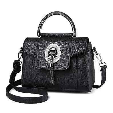 66ff761944 Dunland Leather Stylish Crossbody Messenger Classic Business Evening Shoulder  Bag Metal Button A79 Black