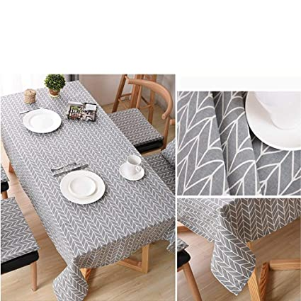 Beau Print Water Resistant Tablecloth Wrinkle Free And Stain Resistant Textured  Fabric Linen Cotton Tablecloths For Kitchen
