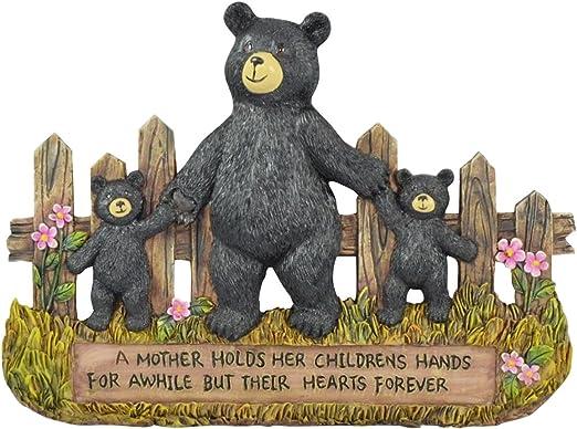 Sitting Black Bear Faith Hope Love /& Believe Sign Small Figurine Gift Statue Set