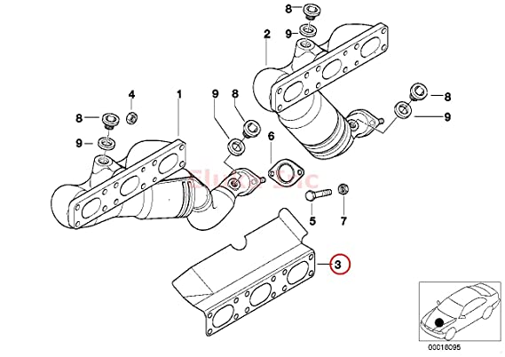 Amazon Com Bmw Exhaust Manifold Gasket