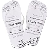 Lillian Rose Women Medium 7-8 Just Married Imprint Honeymoon Flip Flops