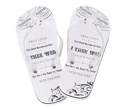 9ba509fef Lillian Rose Women Large 9-10 Just Married Imprint Honeymoon Flip Flops   Amazon.ca  Home   Kitchen