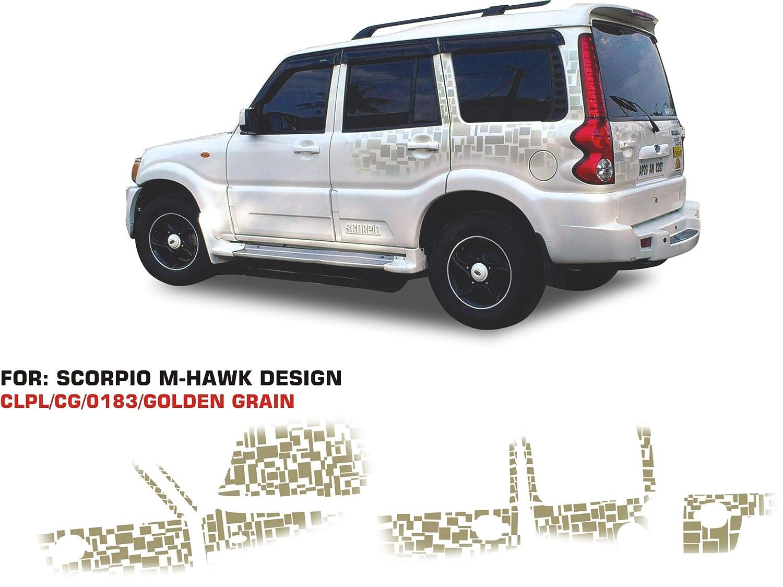 Automaze sticker graphics for mahindra scorpio 0183 set of 2 golden grey amazon in car motorbike