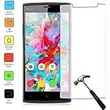 Owbb Protection écran en Verre Trempé pour LEAGOO Elite5 Smartphone Films de protection Transparents Ultra Clear