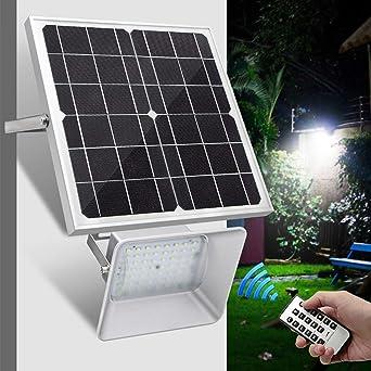 18W Foco Solar Exterior, Foco Led Solar Jardín, Lámparas Solares ...