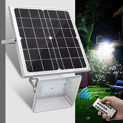 Dxyap 18W Foco Solar Exterior, Foco Led Solar Jardín, Lámparas Solares 56 LED IP66 Impermeable Luz Solar Exterior, para Jardins, Garaje, Acera, Escaleras, Patios Terrazas: Amazon.es: Iluminación