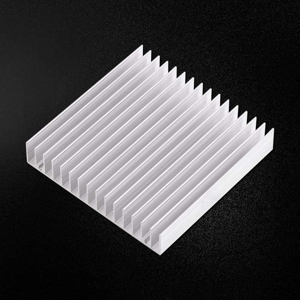 K/ühlk/örper Aluminiumk/ühlk/örper Gute W/ärmeleitf/ähigkeit K/ühlk/örper K/ühlrippe 100x100x18MM elektronische Komponente