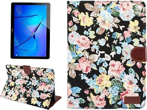 Tablet PC Shell para Huawei MediaPad M3 Lite Estuche protector de tela con estampado de flores,