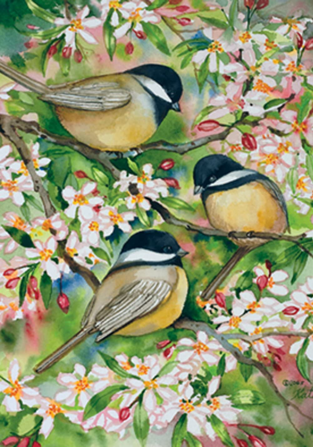 Toland Home Garden 107078 Sweet Chickadees 28 x 40 Inch Decorative, House Flag (28