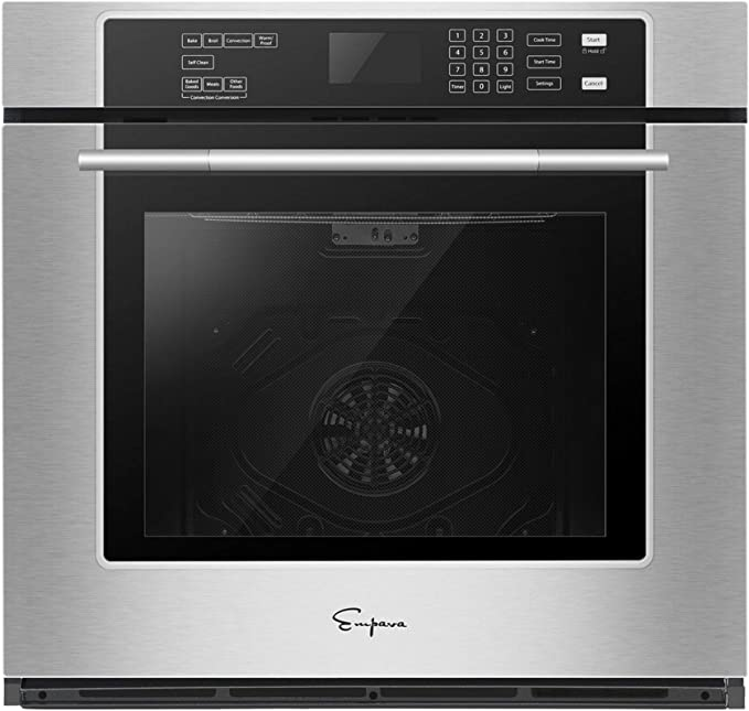 Empava 30 in Electric Single Wall Built-in Self-cleaning Convection Fan Touch Control Ovens, Stainless Steel