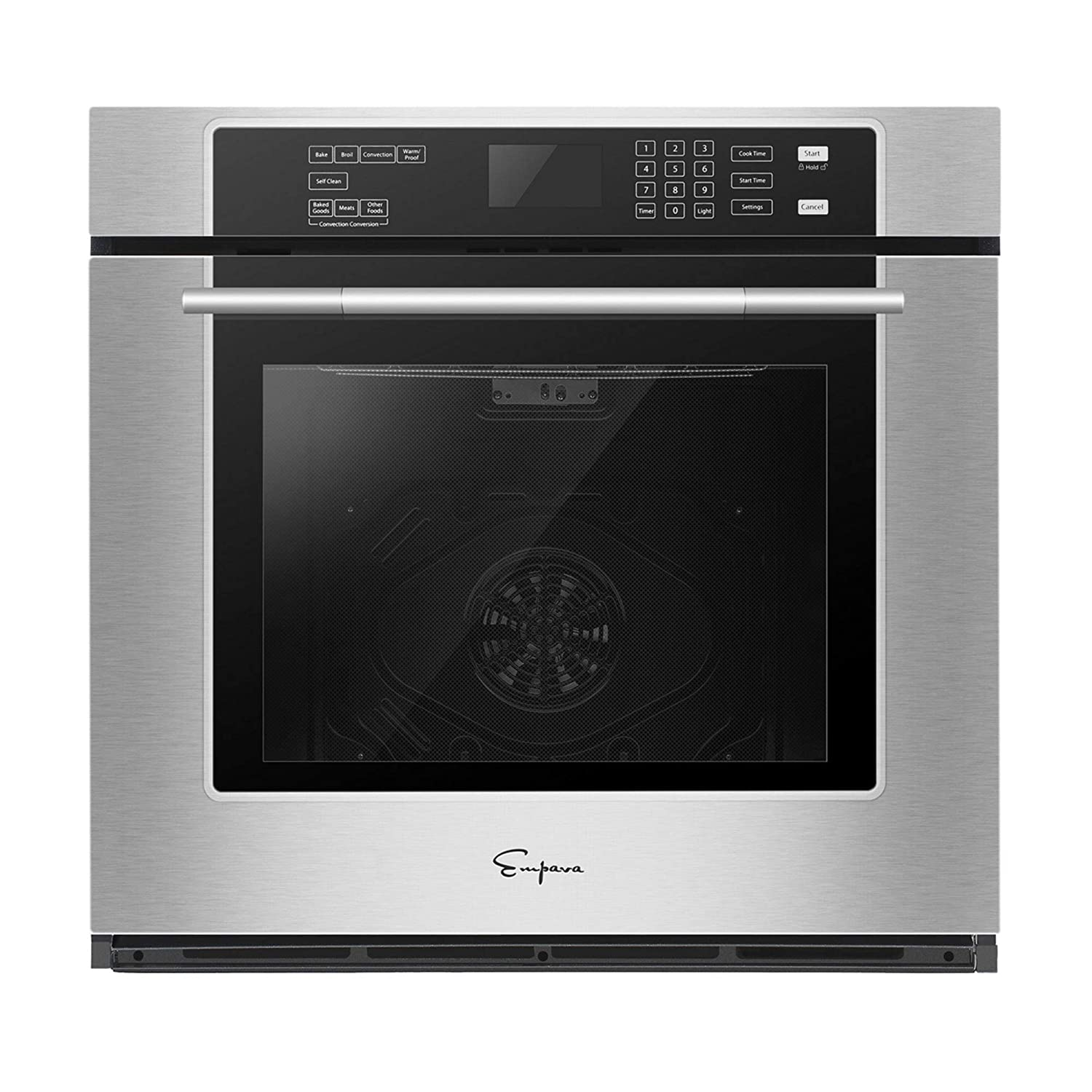 Empava 30 in Electric Single Wall Ovens Built-in Self-cleaning Convection Fan Touch Control EMPV-30WO01, Stainless Steel
