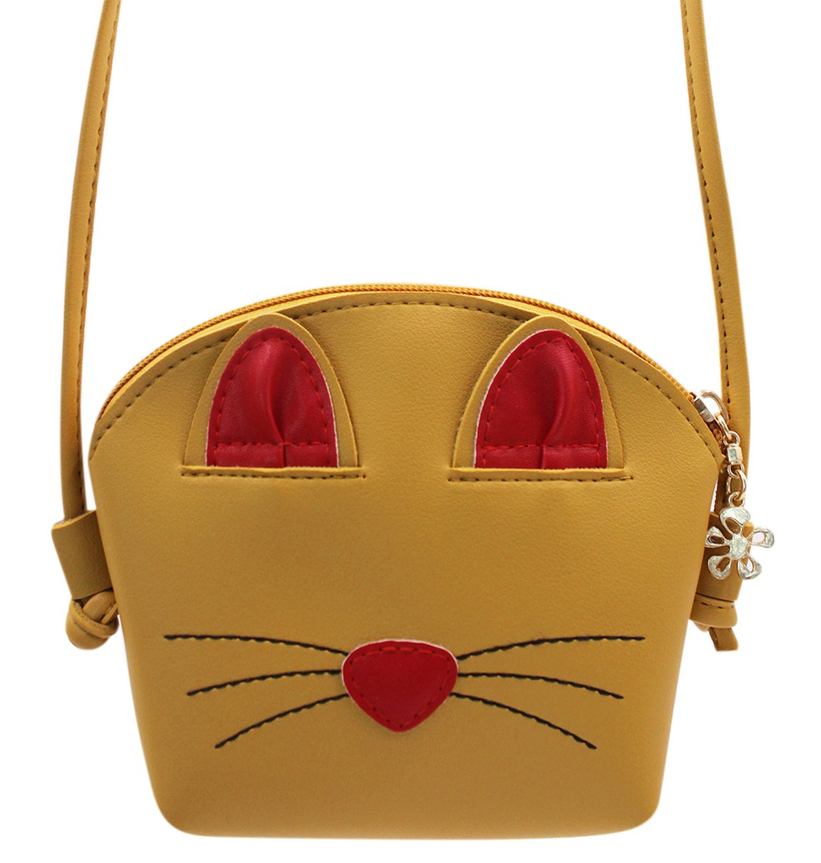 Bags us Fashion Cute Cat Bowknot Single Shoulder Bag Coin Purse Small Crossbody Satchel Handbags Wallet for Kids Girls(5.4X4.5in)
