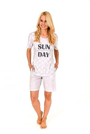 660d90cad40a92 Lässiger Damen Shorty Pyjama kurzarm - auch in Übergrössen bis Gr. 60/62 -