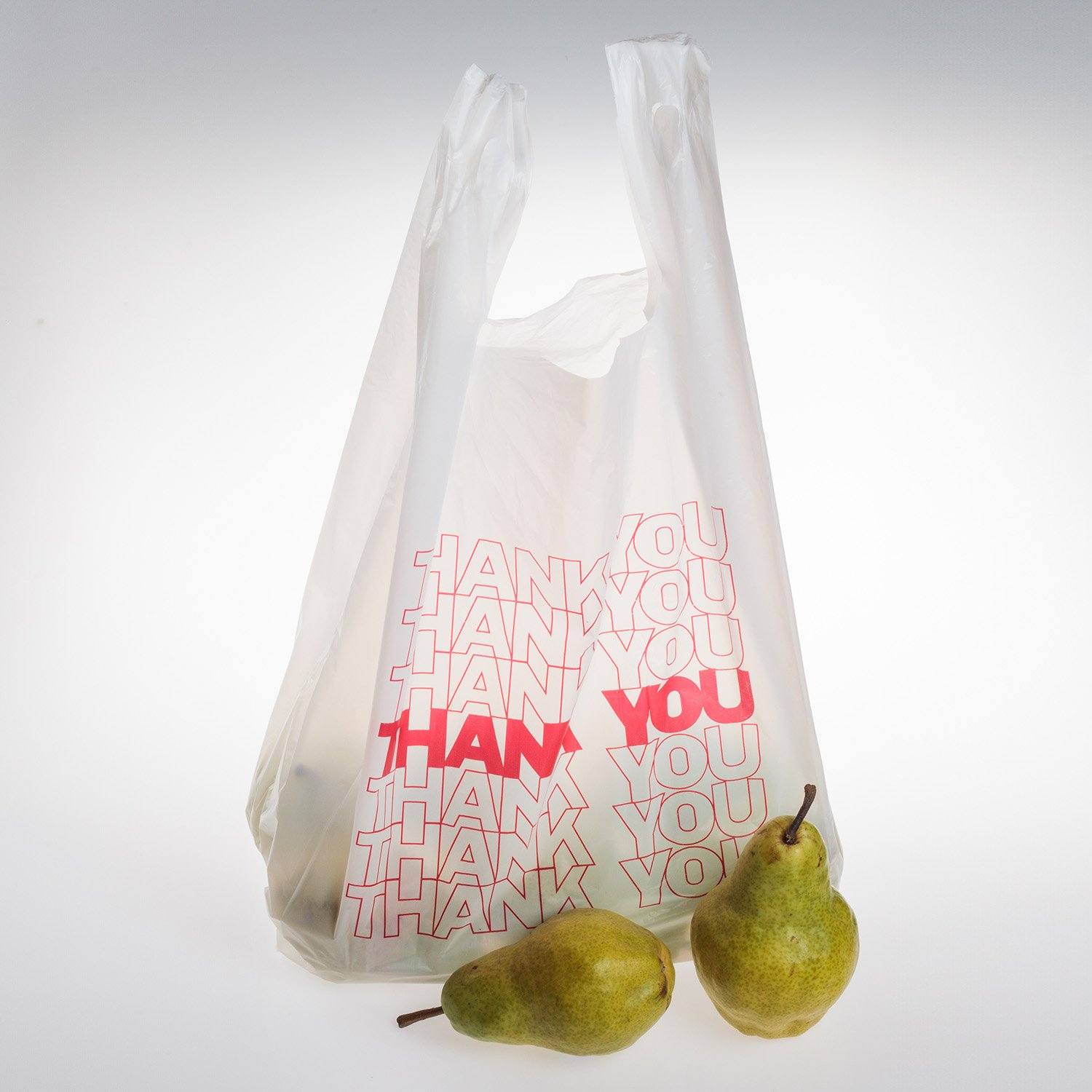 TashiBox Thank You Bags Reusable Grocery Bags - Measures 11.5'' X 6.25'' X 21'', 15mic, 0.6 Mil - 308 Count