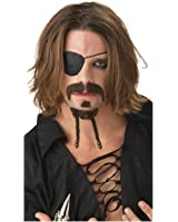 Adult Rogue Pirate Mustache and Goatee