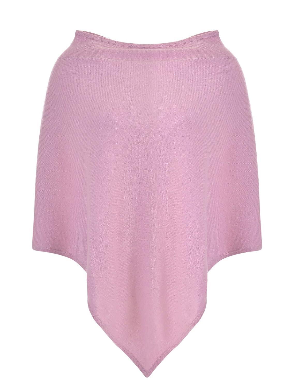 MILANO ITALY Damen Poncho Cardigan 100% Kaschmir, rosa