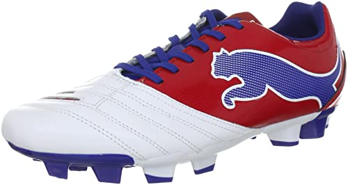 0c42574a9129 Puma Women s Football Boots weiß rot   blau  Amazon.co.uk  Shoes   Bags