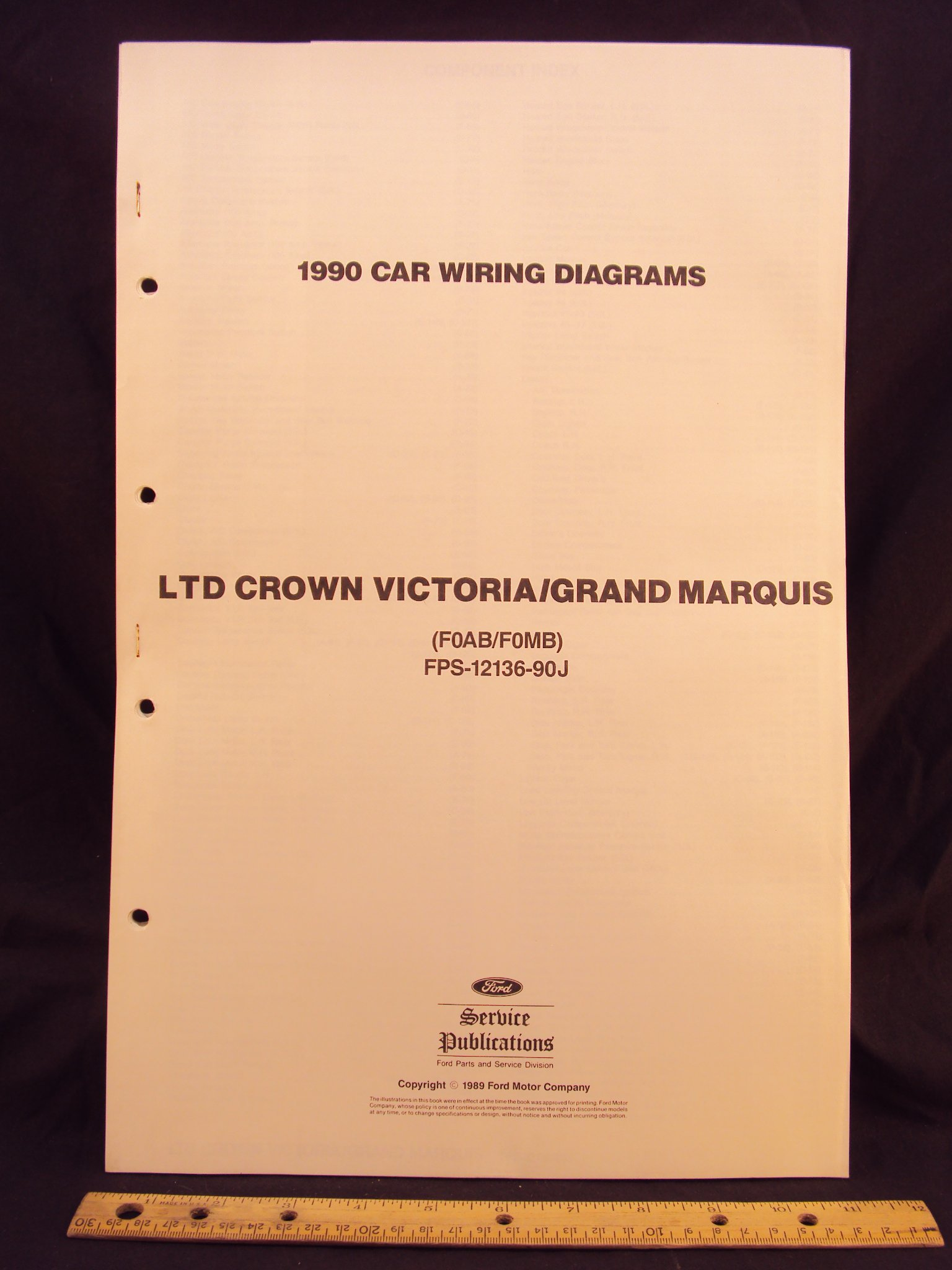 1990 FORD LTD Crown Victoria & MERCURY Grand Marquis Electrical Wiring  Diagrams / Schematics: Ford Motor Company: Amazon.com: BooksAmazon.com