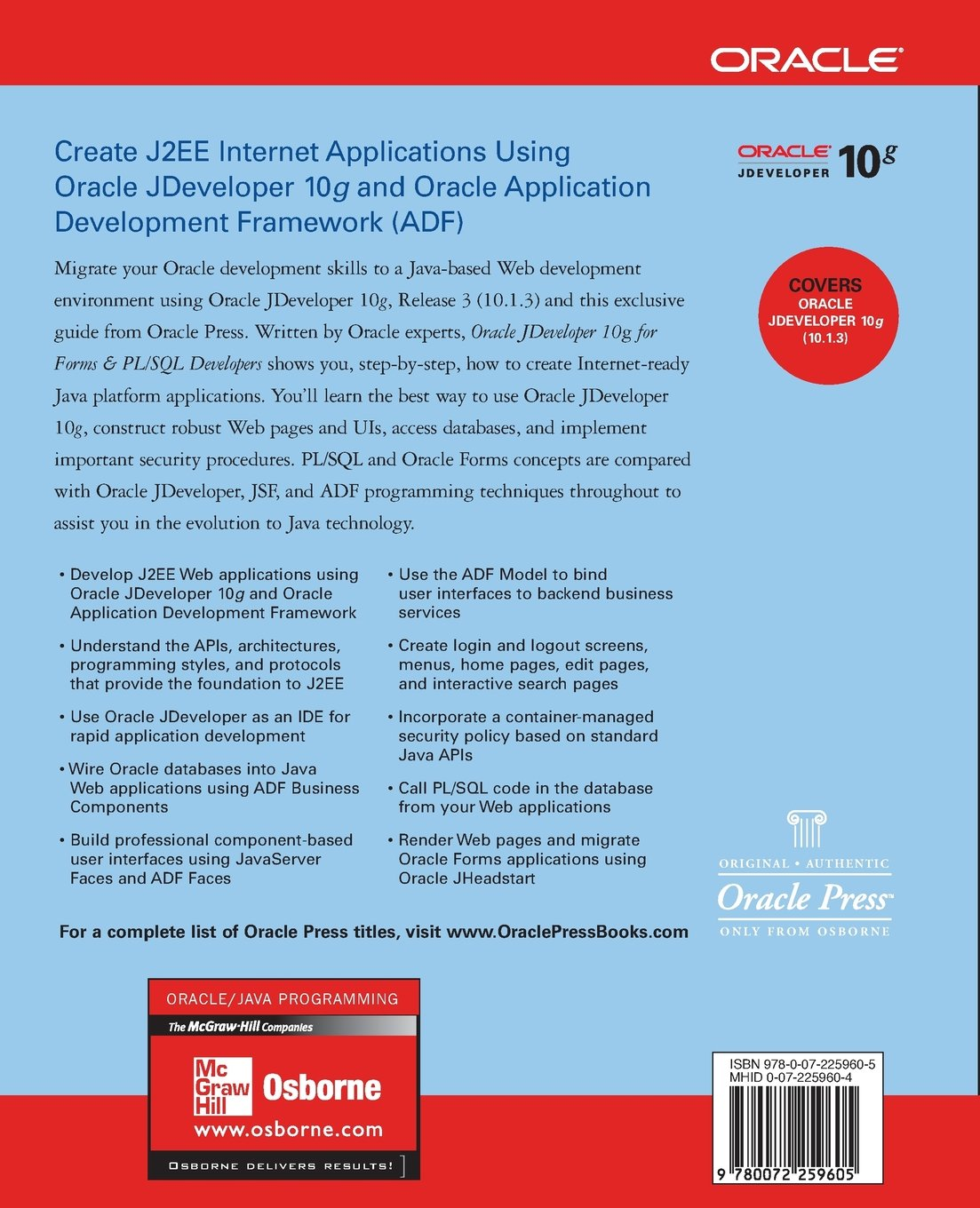 oracle jdeveloper 10g for forms pl sql developers a guide to web rh amazon co uk Install Oracle 10G Oracle 11G Icon