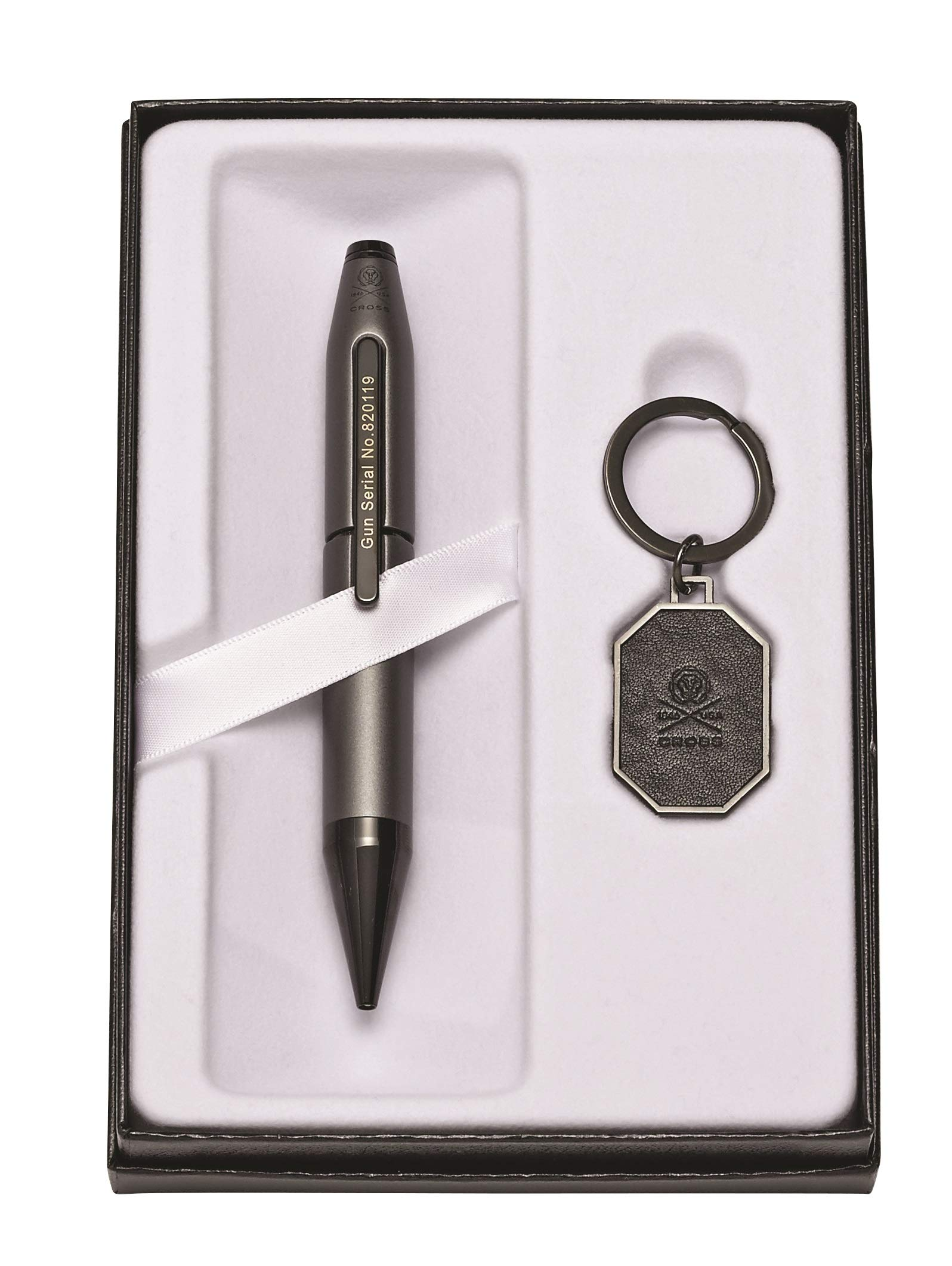 Cross Cross X Gunmetal Gray Liberty United Rollerball Pen & Liberty United Key Ring by Cross (Image #1)