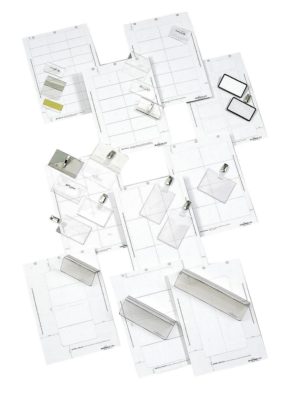 wei/ß Durable 145202 Einsteckschilder Badgemaker 360 Schilder, 40 x 60 mm