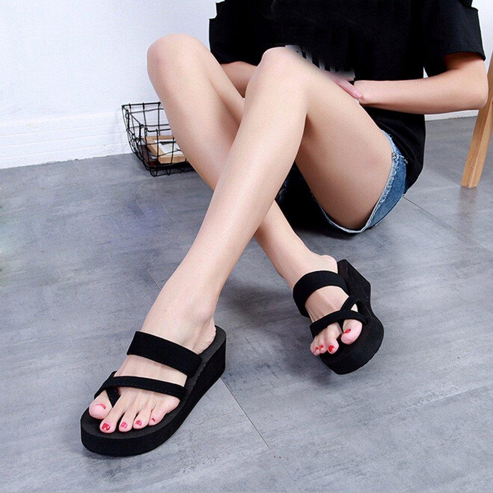 Respctful✿Flip Flops for Women Thong Slip-On Wedge Slide Sandal Arch Supportive Summer Beach Slippers