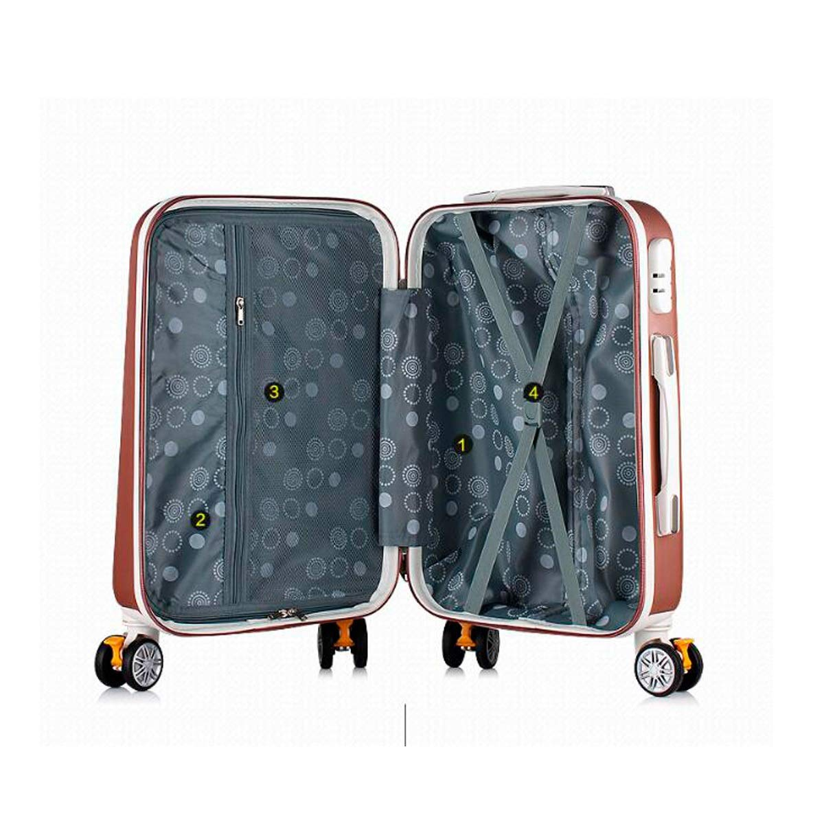 Carry Luggage Best Gift Black Latest Style Travel Storage Box Trolley Case Shengshihuizhong Hard Transfer Suitcase 20//22 Inch Letter Box Simple Style