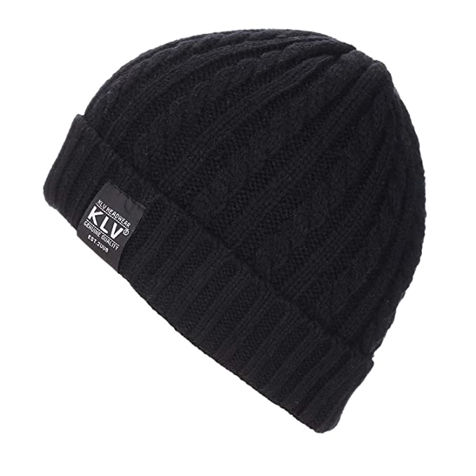 8c79d1f82a5ea Bonnet Winter Hats for Men Wool Beanies Knit Men\'s Winter Hat Caps Women  Beanie Warm Baggy Outdoor Sports Hat at Amazon Men's Clothing store: