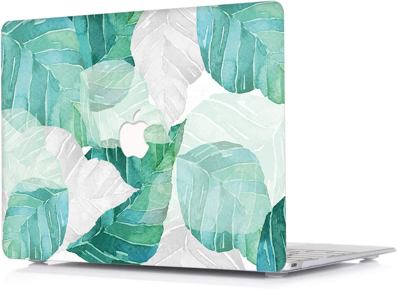 L2W New MacBook Air 13 Inch Case 2018 Version Model: A1932 - [Leaf Pattern Series] Plastic Laptop Ultra Slim Protective Hard Shell Case for Newest MacBook Air 13 with Touch Bar and ID - DC15