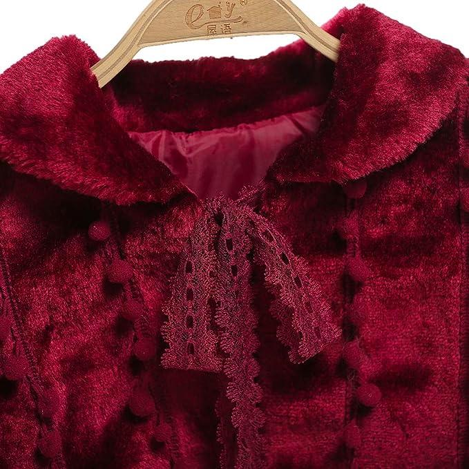 SK Studio Ni/ña Bolero de Boda Fiesta Princesa Chaqueta de Vestido para Invierno Oto/ño Poncho cord/ón 3-13 a/ños