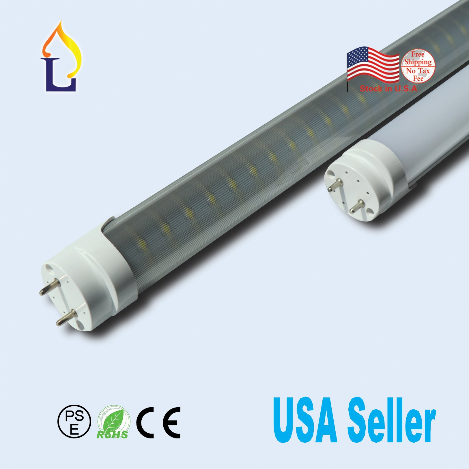 10Pack G13 18W 4FT LED T8 Light Tube Fluorescent Replacement Lamp Milky Cover