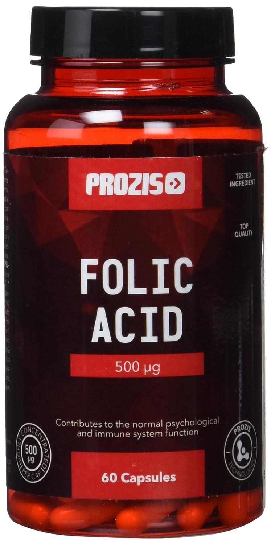 Prozis Ácido fólico - 500 mcg, 60 cápsulas: Amazon.es: Salud y cuidado personal