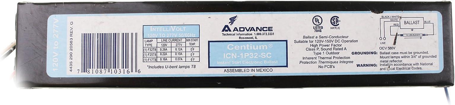 Advance Centium ICN-3P32-N 120V to 277V Ballast 50//60Hz