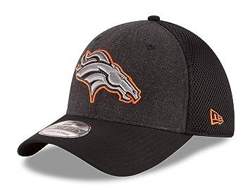 0b180b0d360 Denver Broncos New Era NFL 39THIRTY  quot Heathered Black Neo quot  Flex  Fit Hat