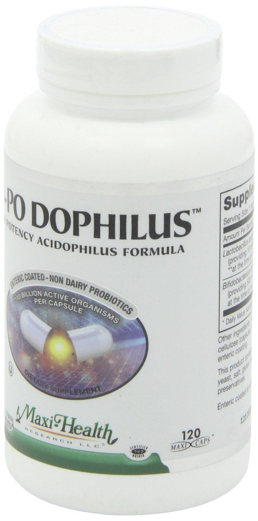 Maxi Health HI-PO Dophilus High Potency Acidophilus Probiotics, 120 Count by Maxi Health (Image #6)