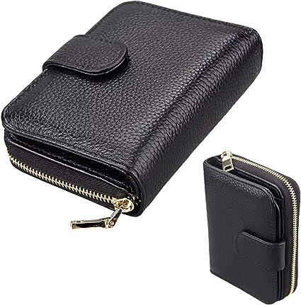 Kleine Geldbörse Damen Portemonnaie Herren Portmonee mit Reißverschluss
