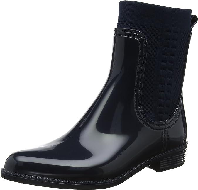 Tommy Hilfiger Damen Tommy Knit Rain Boot Gummistiefel