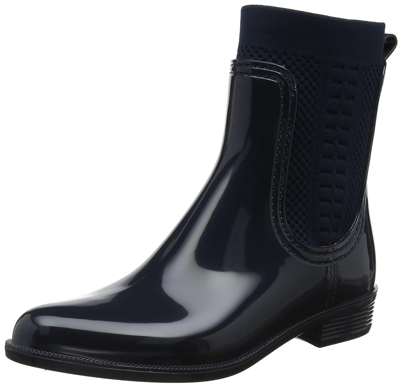 Tommy Hilfiger Damen Blau Tommy Knit Rain Boot Gummistiefel Blau Damen (Midnight 403) cd3bc2