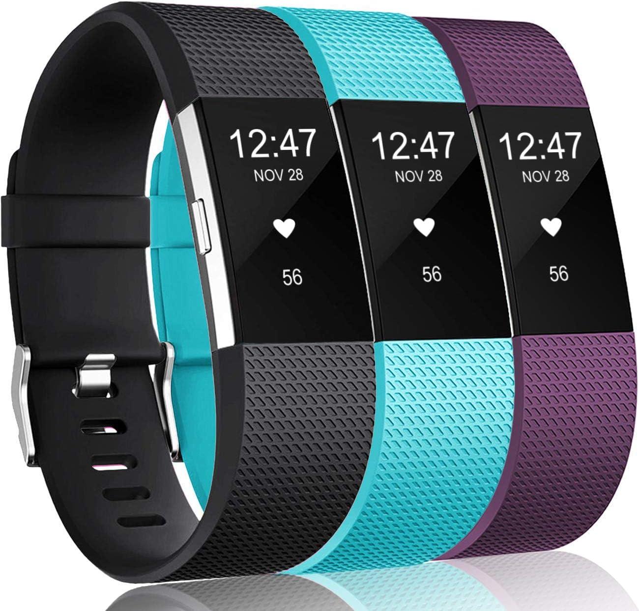 3 Mallas De Reloj Fitbit Charge 2 Hr talle L