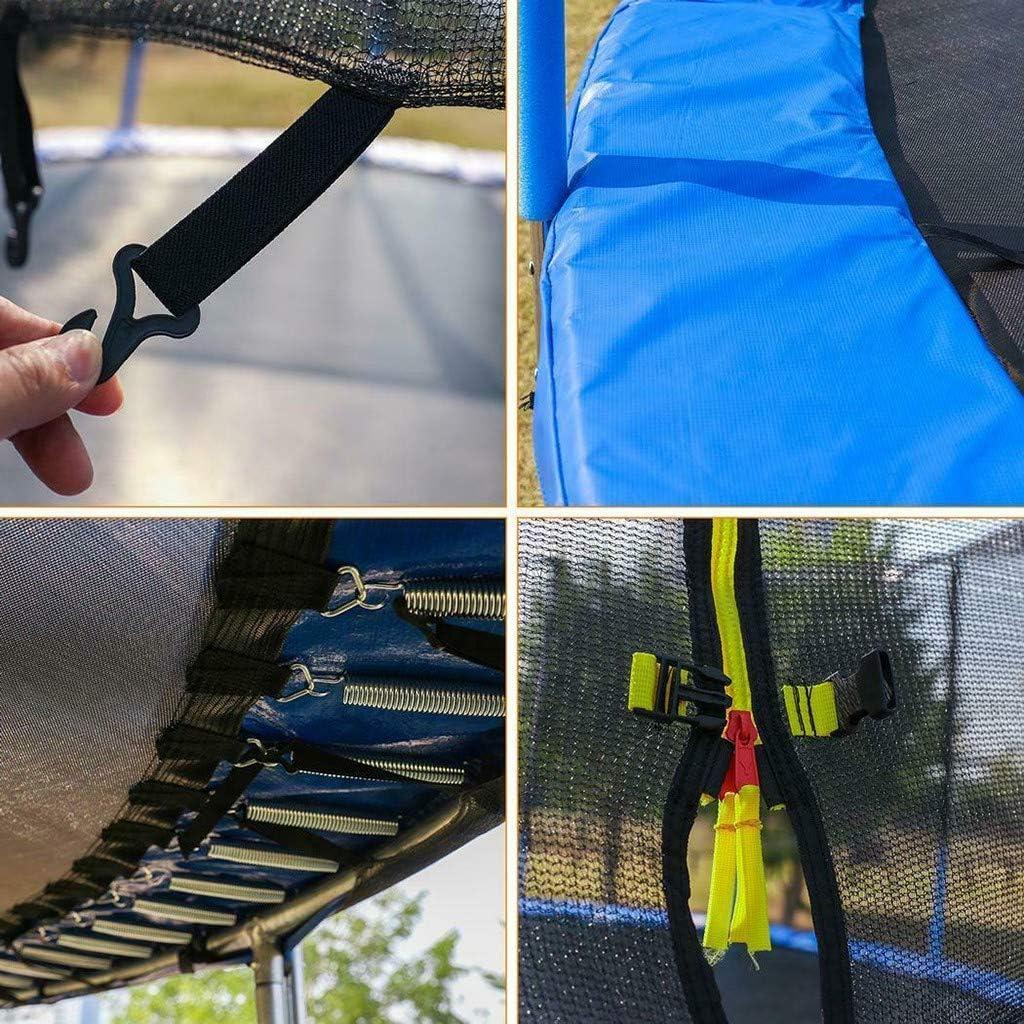 6FT, Multicolor Kids Trampoline Bulit-in Zipper Heavy Duty Steel Frame Mosunx 5//6//8//10//12 Ft Outdoor Indoor Mini Trampolines with Enclosure Net /& Spring Pad