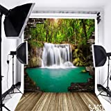 10x15 FT Photography Backdrop European Country Landscape with Houses River Watercolors Style Artistic Background for Kid Baby Boy Girl Artistic Portrait Photo Shoot Studio Props Video Drape Vinyl