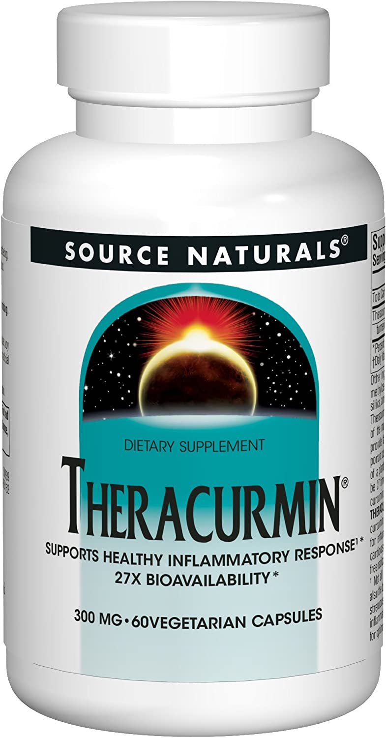 SOURCE NATURALS Theracurmin 300 Mg Vegetable Capsule, 60 Count