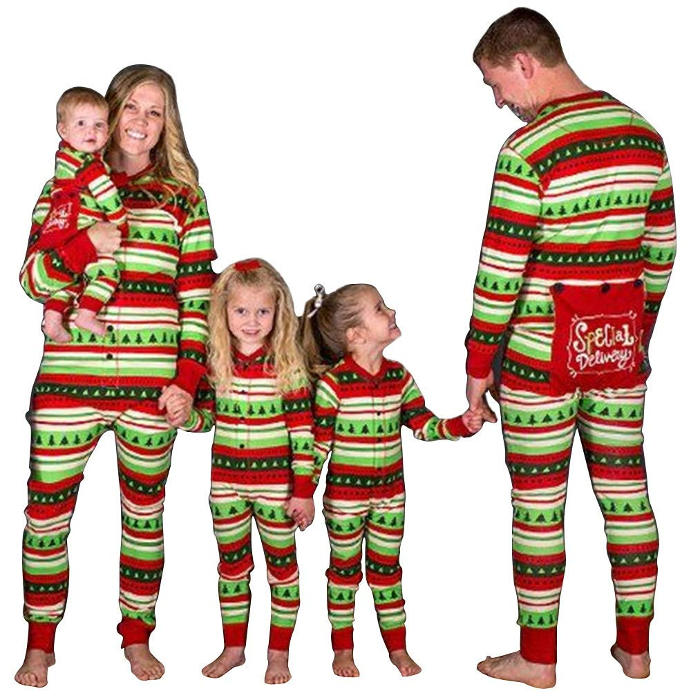 JJAI Jumpsuit Pajama PJS Sets Christmas Family Matching Pajamas Set