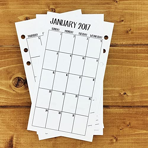 AmazonCom Personal  Monthly Printed Planner Calendar  MoP
