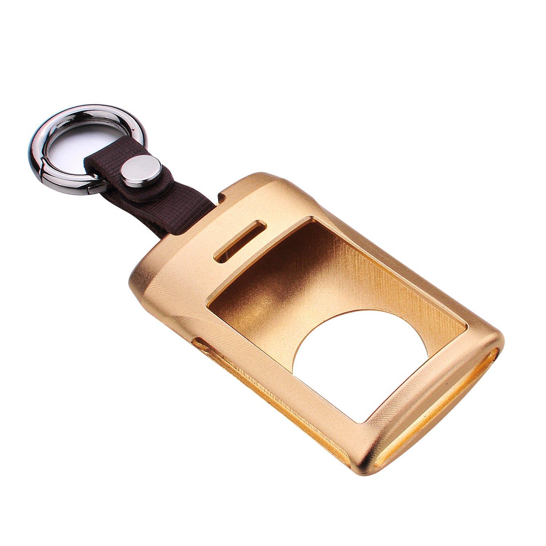 M.JVisun Key Covers for Car Keys Cadillac Remote Key Silver Key Fob Cover Fits Cadillac Seville SLS Escalade SRX Smart Car Key Aircraft Aluminum Key Fob Case Key Protector for Men /& Women