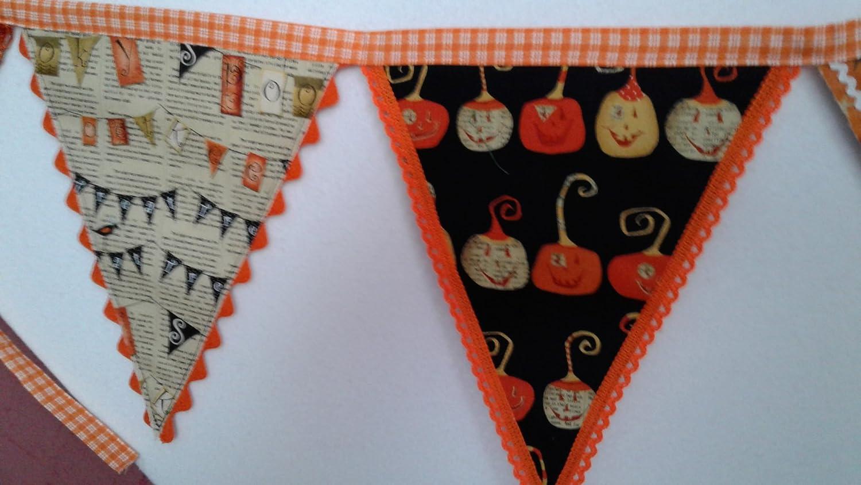 Halloween Fabric Triangle Two-Sided Garland