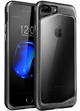 huge selection of 0b18a e7086 iPhone 8 plus Case, iPhone 7 plus Case, Clear Scratch Resistant Transparent  Back Cover with TPU Rubber Shock Bumper for iPhone 8 plus & iPhone 7 plus  ...